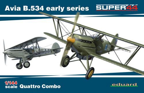 Eduard Plastic Kits 4451 Avia B.534 early series QUATTRO COMBO Super44