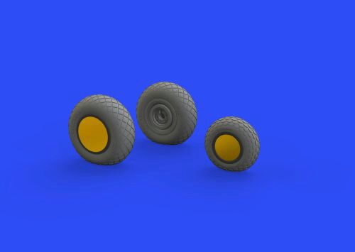 Eduard Accessories 648515 P-38F/G wheels for Tamiya