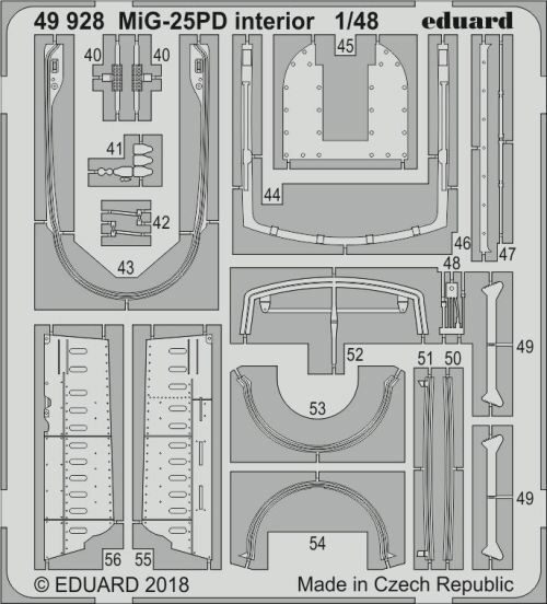 Eduard Accessories 49928 MiG-25PD interior for ICM