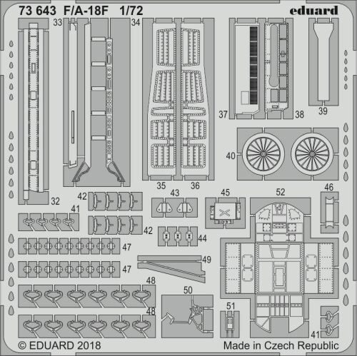Eduard Accessories 73643 F/A-18F for Academy