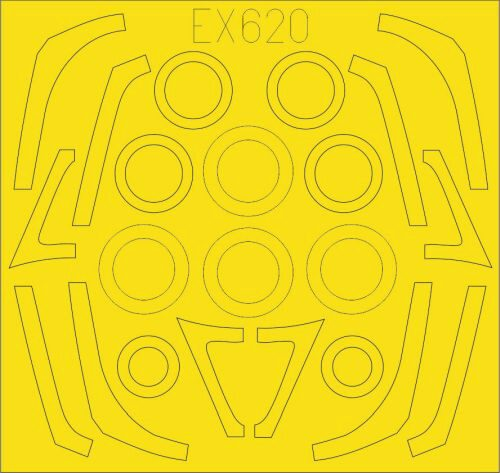 Eduard Accessories EX620 F-16C/N TFace for Tamiya