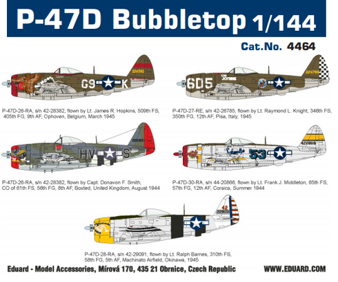 Eduard Plastic Kits 4464 P-47D Bubbletop, Super44