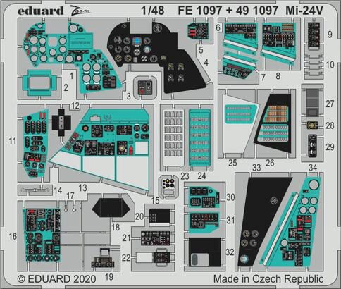Eduard Accessories 491097 Mi-24 interior for Zvezda