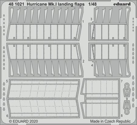 Eduard Accessories 481021 Hurricane Mk.I landing flaps for Airfix