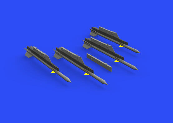 Eduard Accessories 672240 R-3R missiles w/ pylons for MiG-21 for Eduard