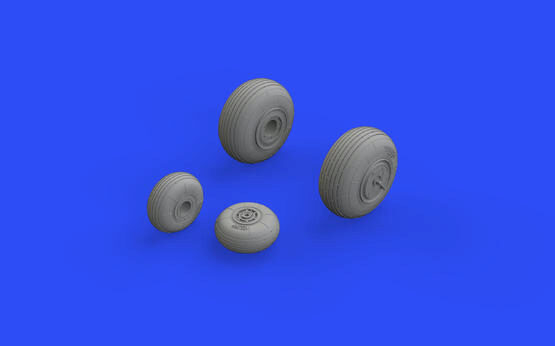 Eduard Accessories 648573 Mi-24V wheels for Zvezda