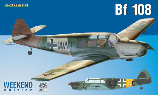 Eduard Plastic Kits 3404 Bf 108, Weekend Edition