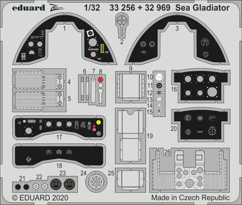 Eduard Accessories 33256 Sea Gladiator for ICM