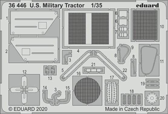 Eduard Accessories 36446 U.S. Millitary Tractor for Airfix