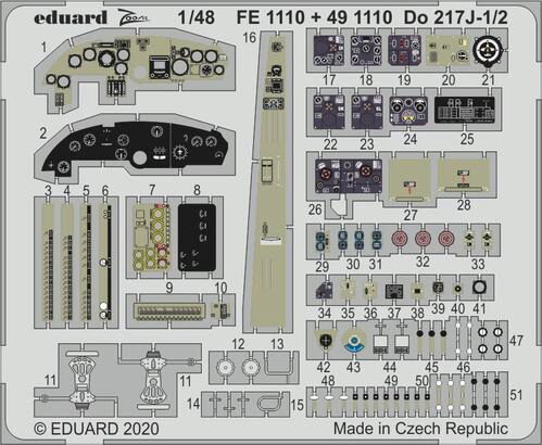 Eduard Accessories 491110 Do 217J-1/2 for ICM