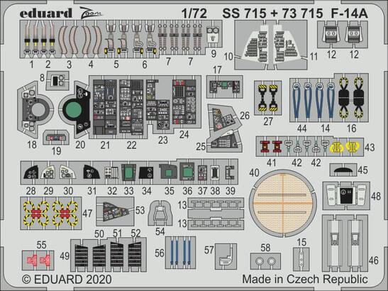 Eduard Accessories 73715 F-14A for Great Wall Hobby
