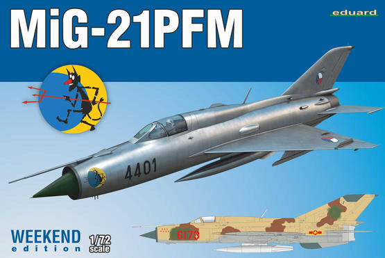 Eduard Plastic Kits 7454 MiG-21PFM, Weekend Edition