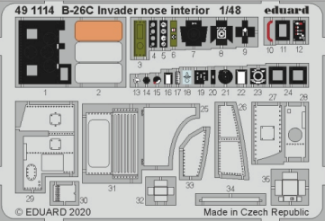 Eduard Accessories 491114 B-26C Invader nose interior for Hasegawa