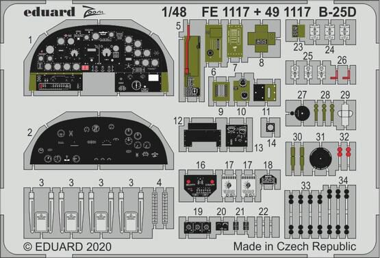 Eduard Accessories 491117 B-25D for Revell