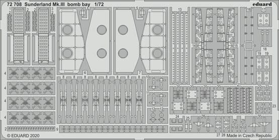 Eduard Accessories 72708 Sunderland Mk.III bomb bay for Special Hobby