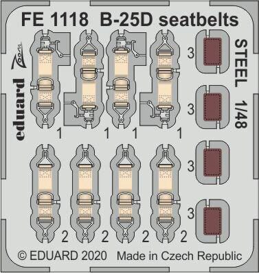 Eduard Accessories FE1118 B-25D seatbelts STEEL for Revell