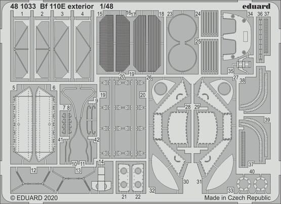 Eduard Accessories 481033 Bf 110E exterior for Dragon