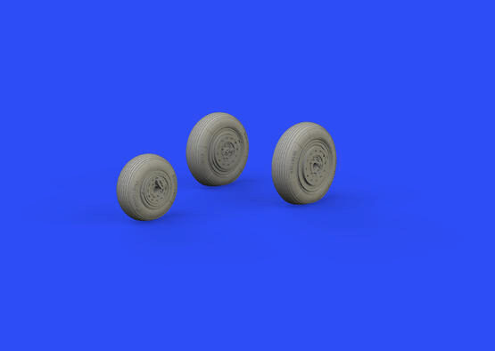 Eduard Accessories 648592 MiG-19 wheels for Eduard/Trumpeter