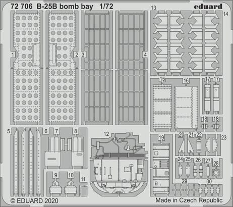Eduard Accessories 72706 B-25B bomb bay for Airfix
