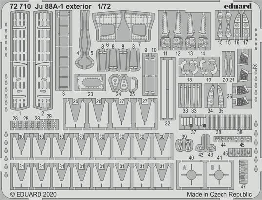 Eduard Accessories 72710 Ju 88A-1 exterior for Revell