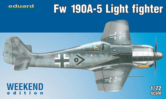 Eduard Plastic Kits 7439 Fw 190A-5 Light Fighter(2 cannons)Weeken Edition