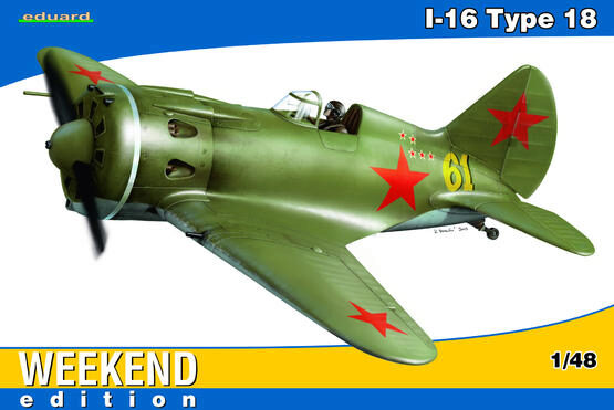 Eduard Plastic Kits 8465 I-16 Type 18 for Weekend