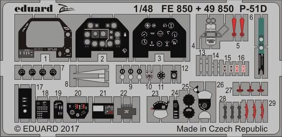 Eduard Accessories 49850 P-51D interior for Meng