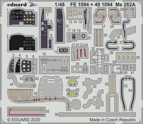 Eduard Accessories 491094 Me 262A for Hobby Boss
