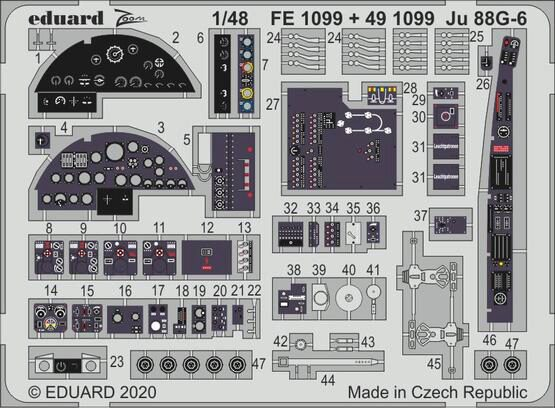 Eduard Accessories 491099 Ju 88G-6 interior for Dragon