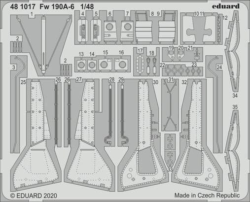 Eduard Accessories 481017 Fw 190A-6 for Eduard