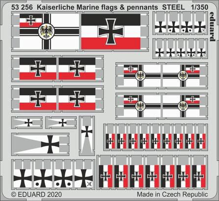 Eduard Accessories 53256 Kaiserlische Marine flags & pennants STEEL