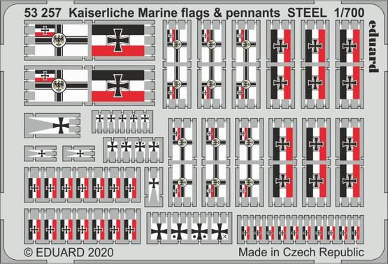 Eduard Accessories 53257 Kaiserlische Marine flags & pennants STEEL
