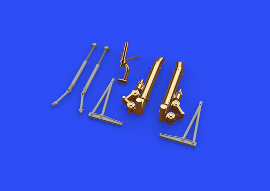 Eduard Accessories 648540 B-17G undercarriage legs BRONZE for HKM