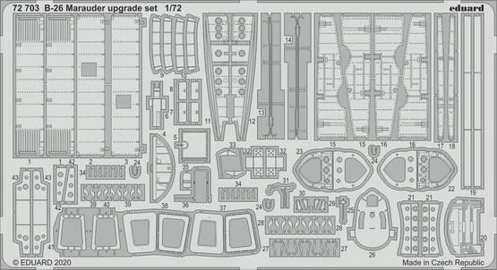 Eduard Accessories 72703 B-26 Marauder upgrade set for Eduard
