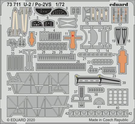 Eduard Accessories 73711 U-2/Po-2VS for ICM