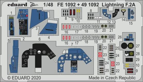 Eduard Accessories FE1092 Lightning F.2A for Airfix
