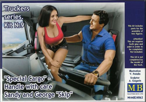 "Master Box Ltd. MB24062 Truckers series""Special Cargo""Handle wit care!Sandy and George"