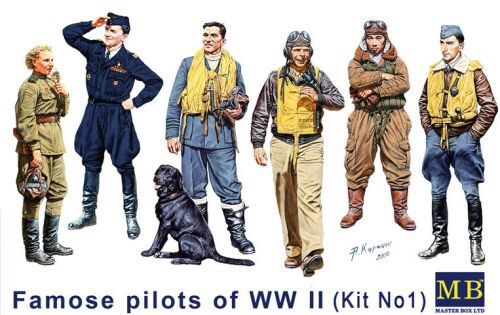 Master Box  MB3201 Famous WWII pilots set