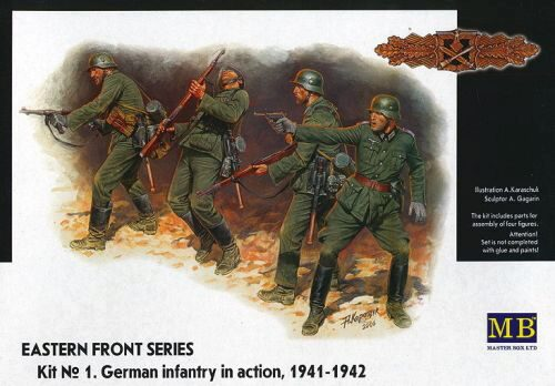 Master Box  MB3522 German Infantry in action 1941-1942 Eastern Front Series Kit No. 1