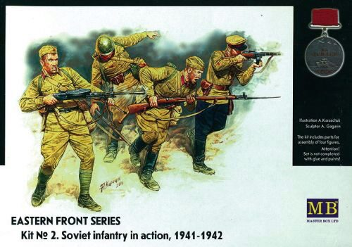 Master Box Ltd. MB3523 Soviet Infantry in action 1941-1942 Eastern Front Series