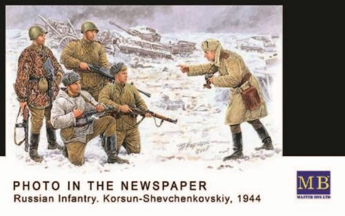 Master Box  MB3529 Russische Infanterie Korsun 1944 Photo for the Newspaper