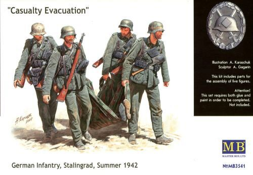 Master Box  MB3541 German Infantry Stalingrad Summer 1942 Casualty Evacuation