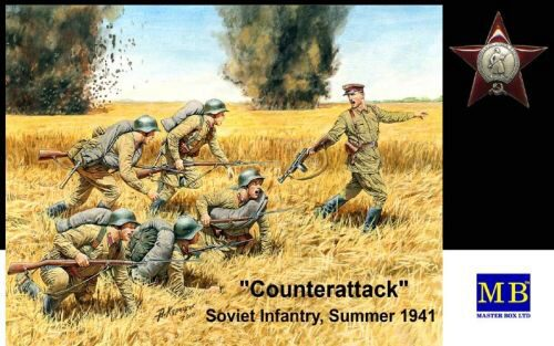 Master Box  MB3563 Counterattack, Soviet infantry, 1941