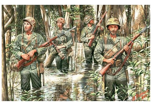Master Box  MB3589 U.S. Marines in jungle, WWII era