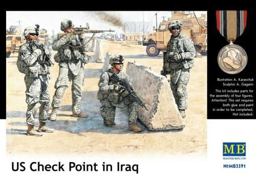 Master Box  MB3591 U.S. in Iraq, Checkpoint