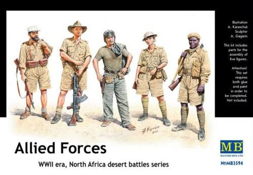 Master Box  MB3594 Allied Forces. N.Africa desert battles.s