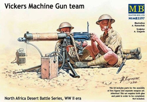 Master Box  MB3597 Vickers machine-gun crew, Desert battle