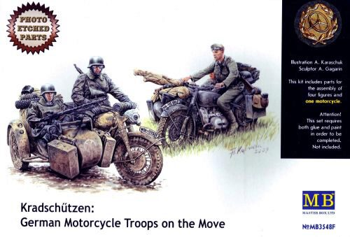Master Box  MB3548F Kradschutzen: Ger. motorcycle troops
