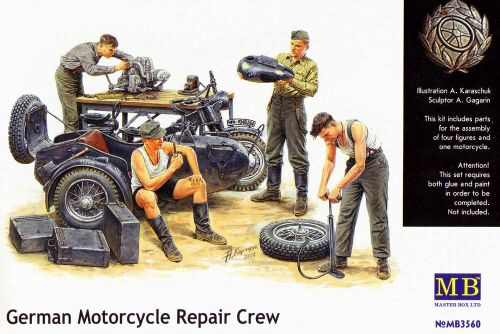 Master Box  MB3560 German Motorcycle repair team