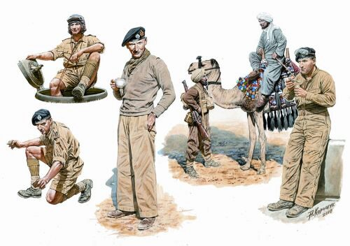Master Box Ltd. MB3564 British armored troops Africa